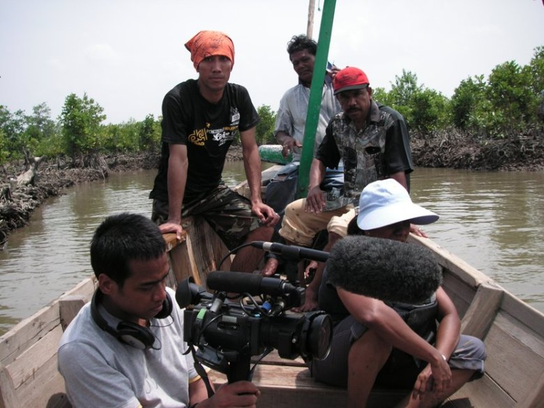 Filming TVEAP\'s The Greenbelt Reports in Jaring Halus, Indonesia, in 2006