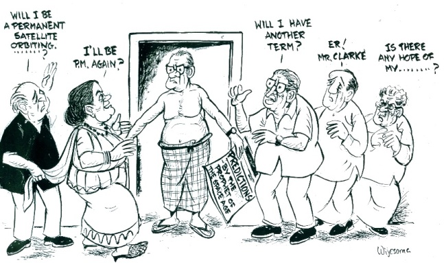Cartoon by W R Wijesoma in The Observer (Sri Lanka)