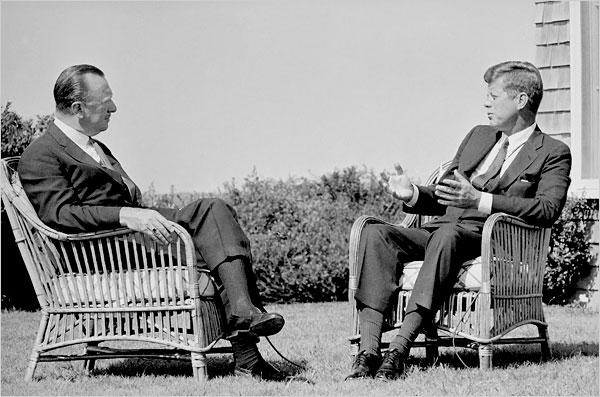 Walter Cronkite interviews President Kennedy - Photo courtesy Associated Press