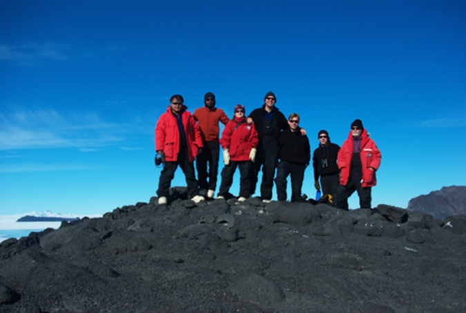 Stanford University Fish Research group in Antarctica 2010