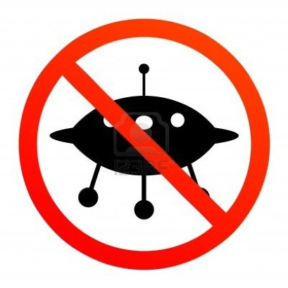 No UFOs sign