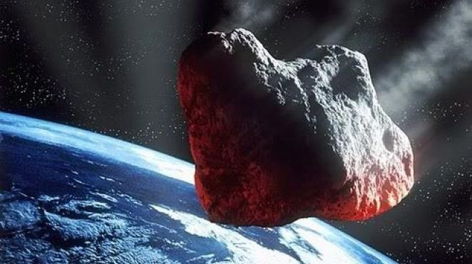 Earth threatening asteroid - artist's imagination