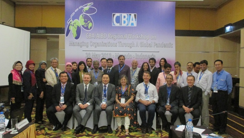 CBA - AIBD Workshop on 'Be Prepared Managing Your Organisation through a  Global Pandemic' - Manado, Indonsia, 28 May 2013