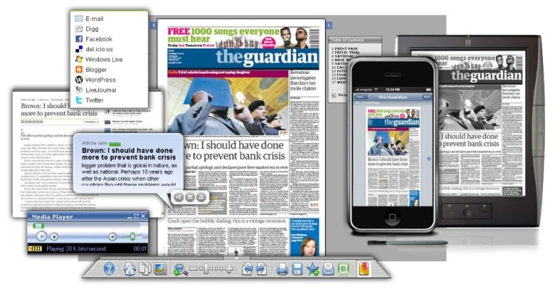The Guardian now comes out in many formats, many media