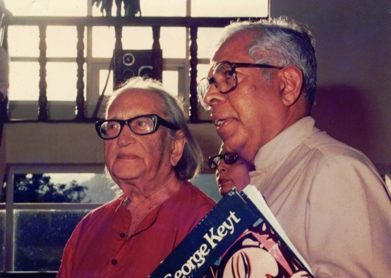 Dr Cyril Ponnamperuma (right) and artist George Keyt