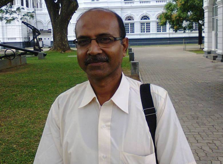 Dr Anupam Paul in Colombo. Photo by Nalaka Gunawardene