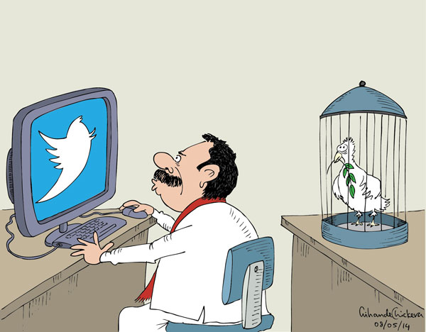 Cartoon by Awantha Artigala, Daily MIrrir, Sri Lanka