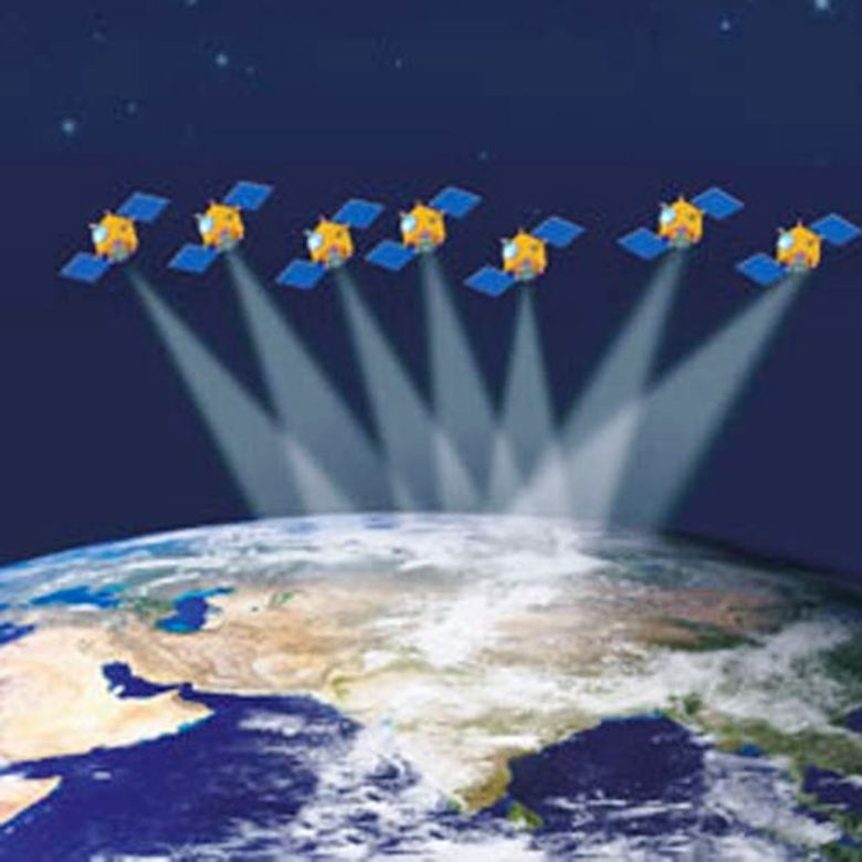Satellites over India