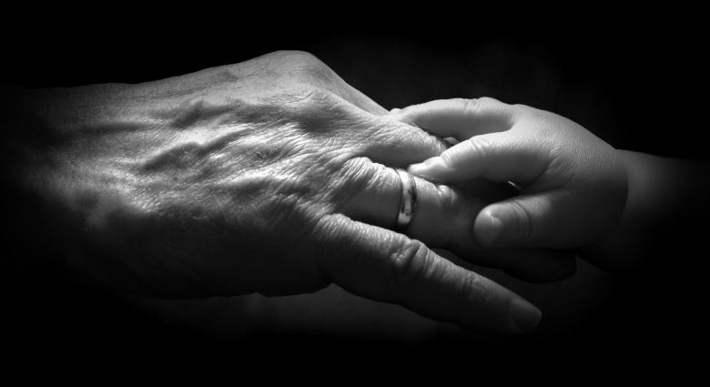 Old and young hands - 2