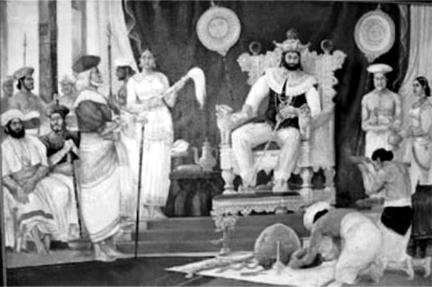 Last king of Ceylon, Sri Wickrama Rajasinghe's court