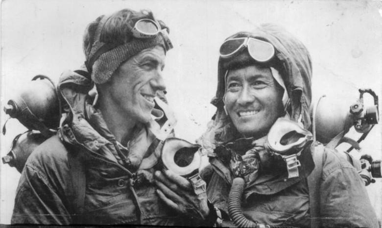 Edmind Hillary and Tenzing Norgay, first humans to climb Everest on 29 May 1953