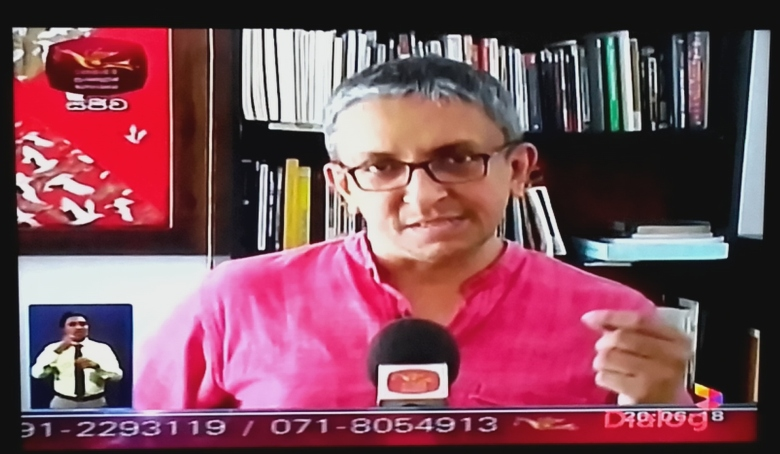 Nalaka Gunawardene in Rupavahini interview on Sri Lanka's new Right to Information RTI Law, 25 June 2016