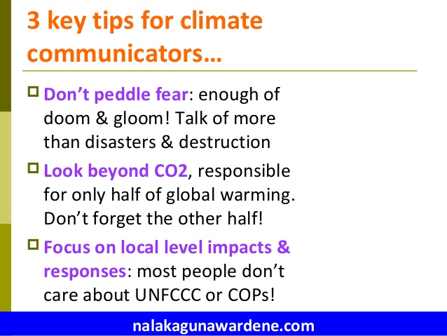 3 broad tips on climate communications - from Nalaka Gunawardene